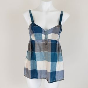 Urban Outfitters BDG Plaid Sleeveless Top, Size M